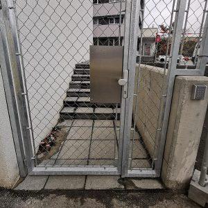 Gartentüre aus Metall